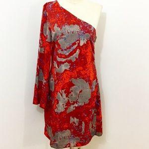W11 8 Walter Baker one shoulder long sleeve dress